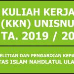 Penawaran Dosen Pembimbing Lapangan (DPL) KKN Unisnu Jepara Angkatan IX TA 2019/2020