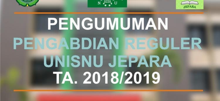 Pengumuman : Penerimaan Proposal Pengabdian Reguler UNISNU Jepara TA. 2018/2019